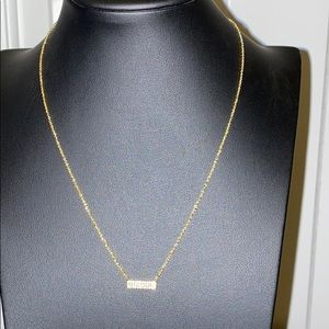 """Small Bar Necklace 17.5"""""""